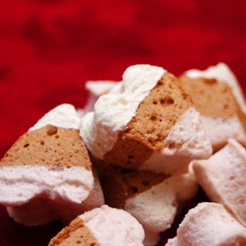 Neapolitan Bite-Sized Heart Marshmallow Organic 8oz Bag Kosher Gluten Free