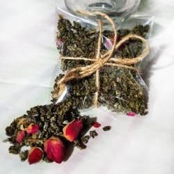 Organic Rose Bud Green Tea 2quart Pearl Tea Gluten Free Vegan