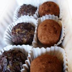 Dark Chocolate Sunflower Agave Fudge Truffle Gluten Free Vegan Low Glycemic Diabetic