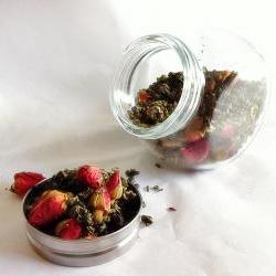 Organic Rosebud Green Tea Spice Jar